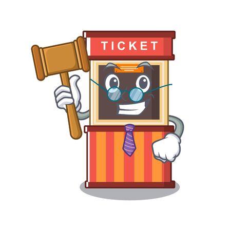 Judge ticket booth in the character door