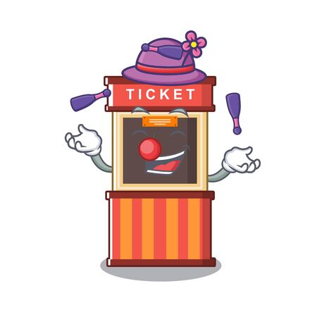 Juggling ticket booth in the character door