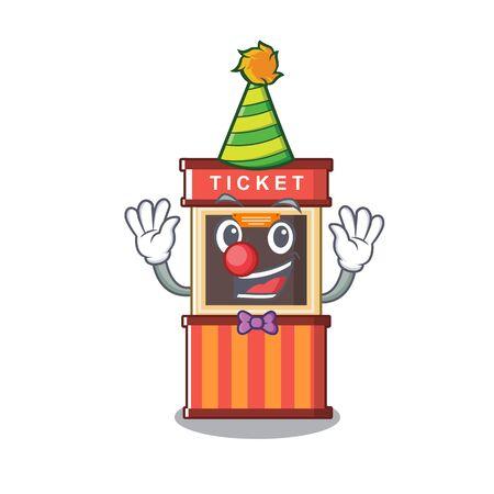 Clown ticket booth in the character door