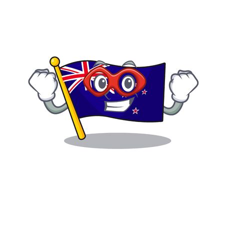 Super hero flag new zealand isolated on character 写真素材 - 128904994