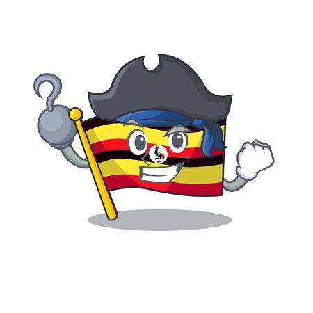 Pirate flag uganda flew the character pole