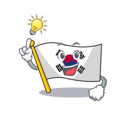 Have an idea korean flag stored in character drawer vector illustration
