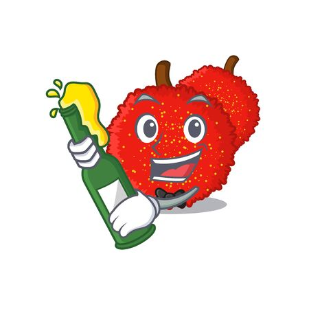 With beer bayberry isolated with in the cartoon vector illustration
