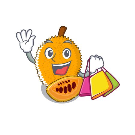 Shopping gac fruit with the character shape illustration vector