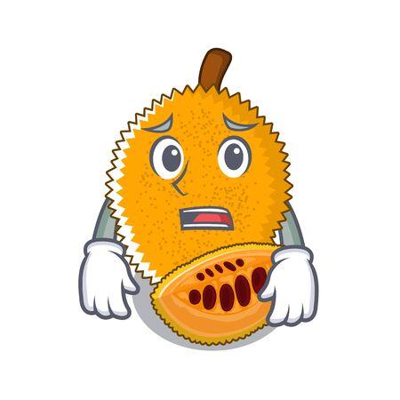 Afraid gac fruit isolated in the cartoon illustration vector