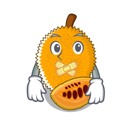 Silent sweet gac fruit in mascot bowl vector illustration