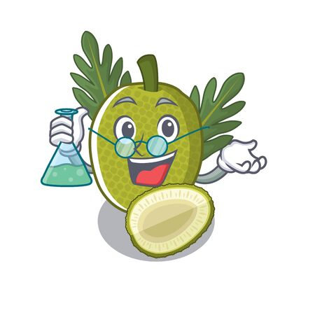 Professor breadfruit with in the character shape vector illustration