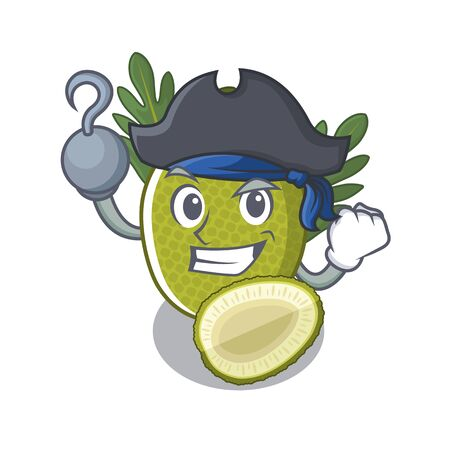 Pirate fried breadfruit served in cartoon bowl vector illustration Standard-Bild - 129107620
