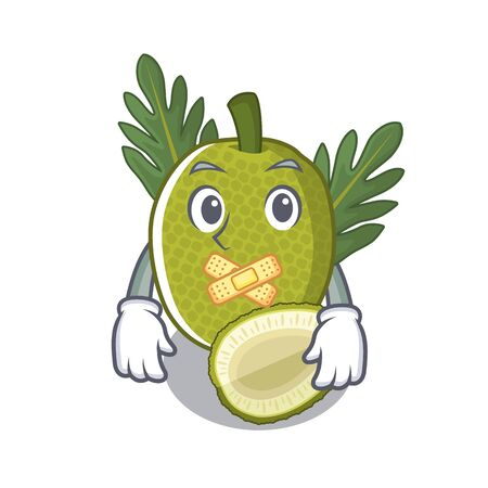 Silent breadfruit isolated with in the mascot illustration vector Illustration