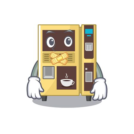 Silent coffee vending machine in the cartoon vector illustration