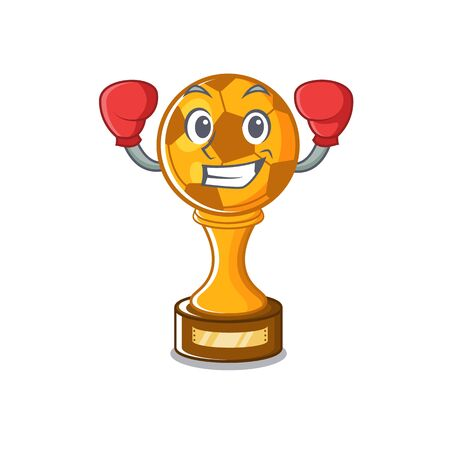 Boxing soccer trophy isolated with the cartoon vector illustration 向量圖像