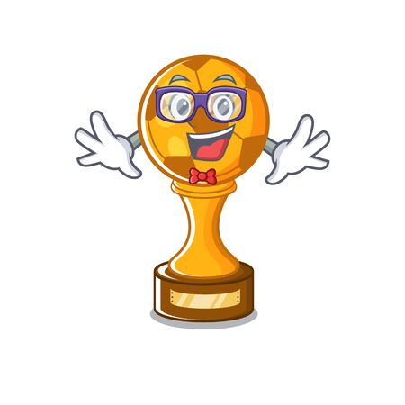 Geek soccer trophy with the mascot shape vector illustration Stock fotó - 129167405