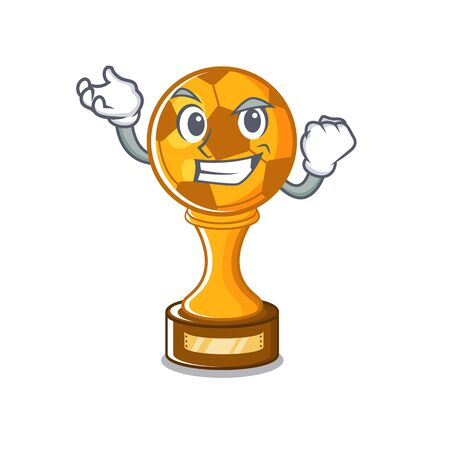 Successful soccer trophy with the mascot shape vector illustration Stock fotó - 129167475