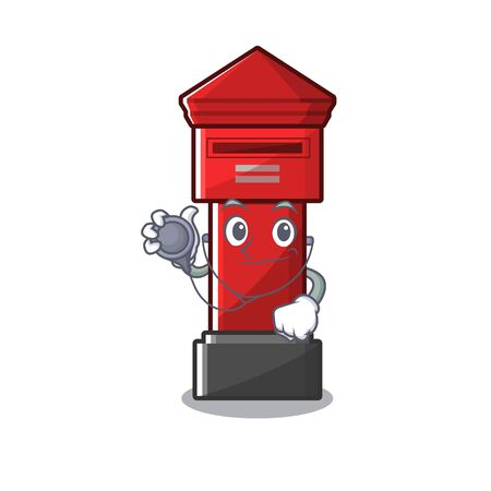 Doctor pillar box isolated with the cartoon illustration vector