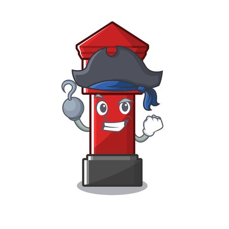 Pirate pillar box isolated with the cartoon illustration vector Illusztráció