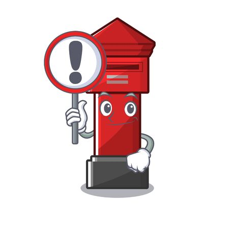 pillar box isolated with the cartoon illustration vector