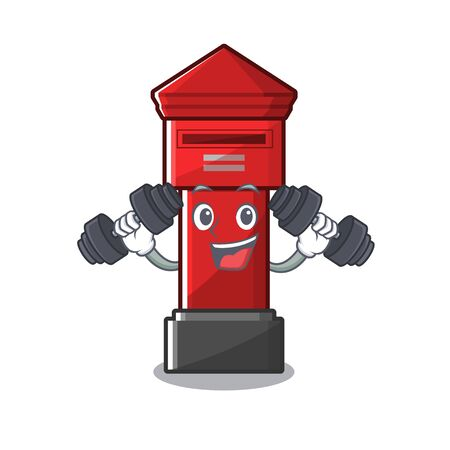 Fitness pillar box isolated with the cartoon illustration vector Illusztráció