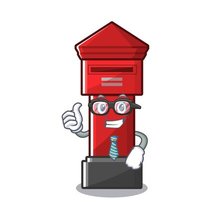 Businessman Pillar box sticks the character wall vector illustration