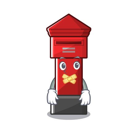 Silent pillar box on a cartoon highway vector illustration