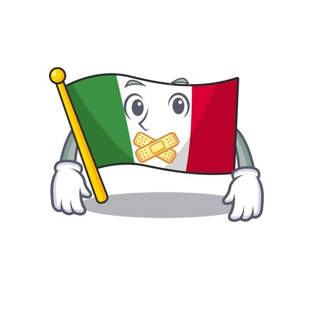 Silent flag italy is placed the cartoon cupboard illustration vector