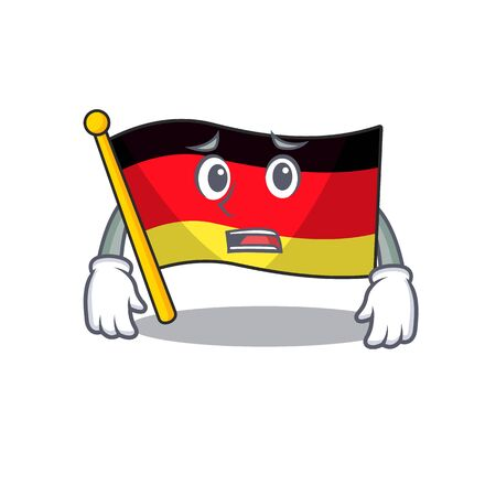 Afraid flag germany cartoon formed with character illustration vector