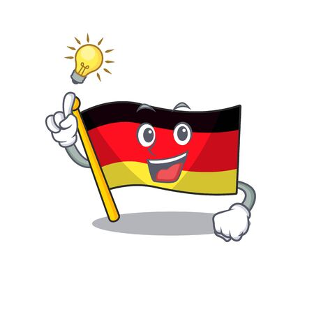 Have an idea flag germany mascot folded on cartoon table illustration vector Ilustração