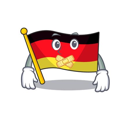 Silent flag germany mascot folded on cartoon table illustration vector Ilustração