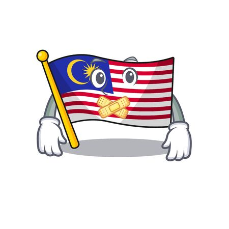 Silent malaysia mascot flag kept in cupboard illustration vector Ilustração