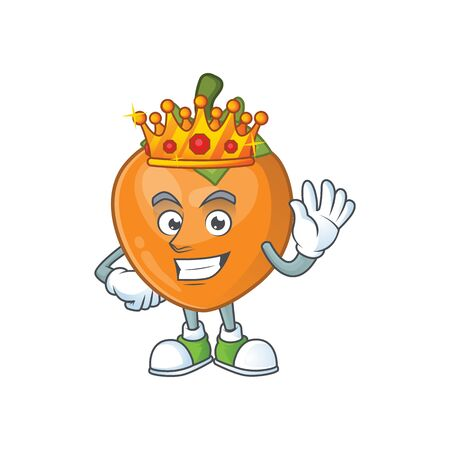 King cute persimmon cartoon style with mascot Stockfoto - 129232650