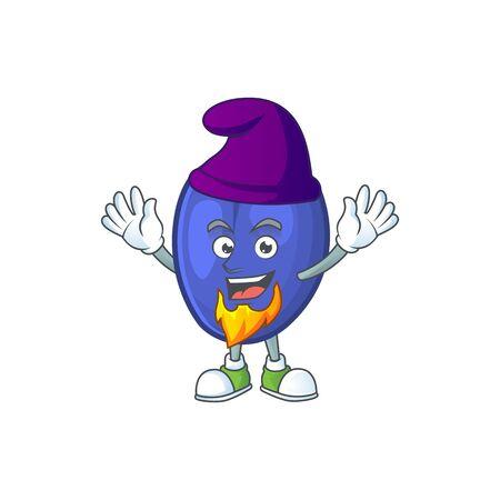 Elf fruit prunes cartoon on white background. vector illustration