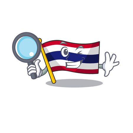Detective flag thailand isolated with the character  イラスト・ベクター素材