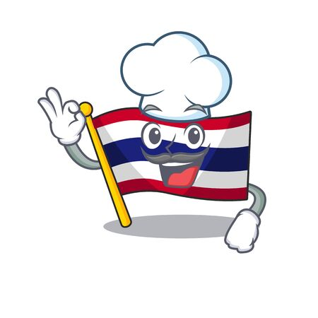 Chef flag thailand isolated with the character Stock Illustratie