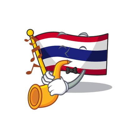 With trumpet flag thailand cartoon is stored character closet