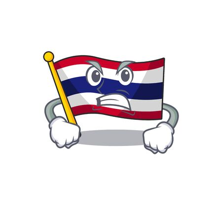 Angry flag thailand cartoon is stored character closet