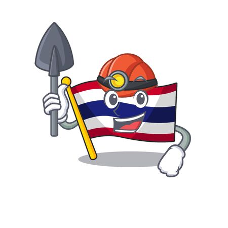 Miner flag thailand cartoon is stored character closet