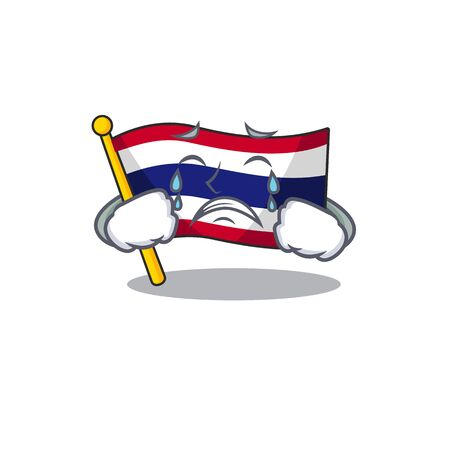 Crying flag thailand cartoon is stored character closet