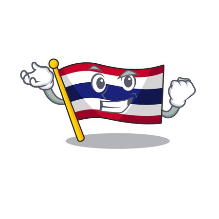 Successful flag thailand isolated with the character