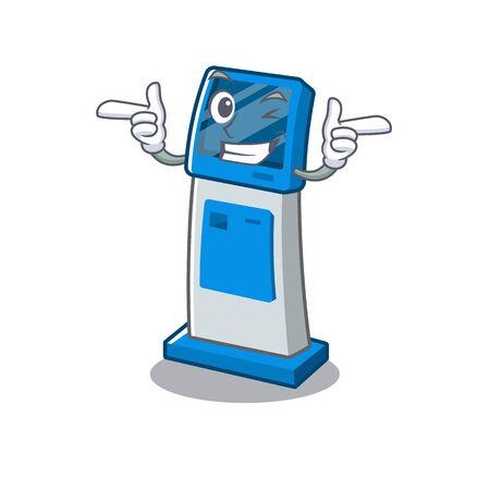 Wink information digital kiosk with in cartoon shape