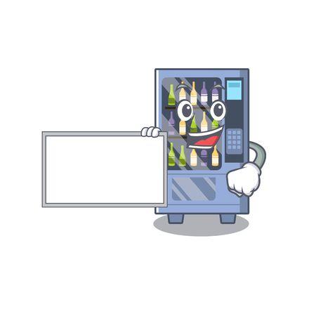 cartoon wine vending machine on character table