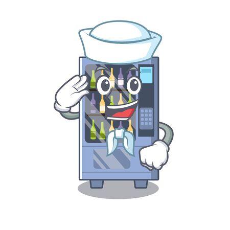 Sailor cartoon wine vending machine on character table