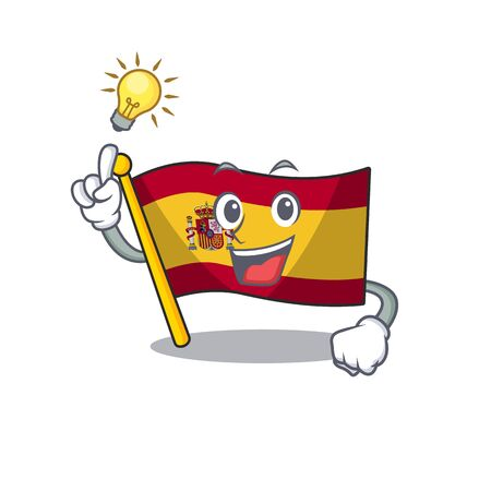 Have an idea flag spain with in the mascot shape Иллюстрация