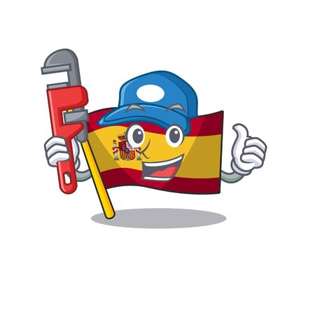 Plumber flag spain with in the mascot shape