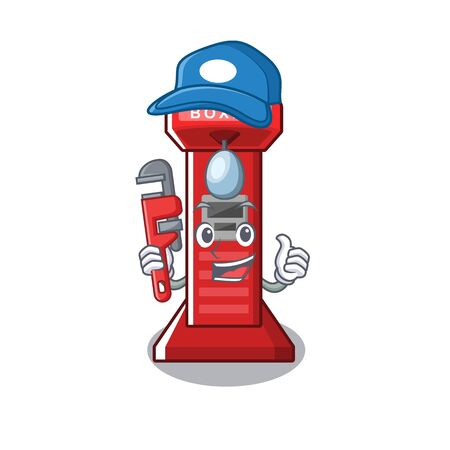 Plumber boxing game machine in cartoon shape vector illustration