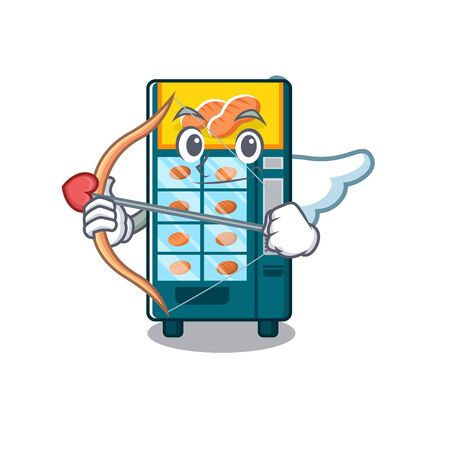 Cupid bakery vending machine isolated the cartoon vector illustration 일러스트