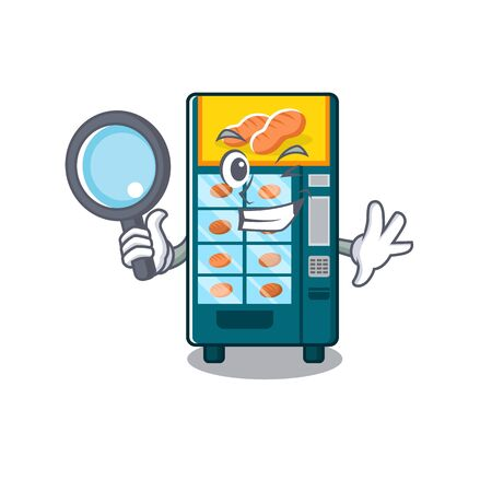 Detective bakery vending machine in character shape vector illustration