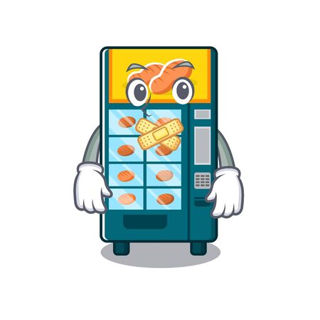 Silent bakery vending machine in the cartoon vector illustration