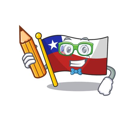 Student flag chile isolated with the cartoon vector illustration