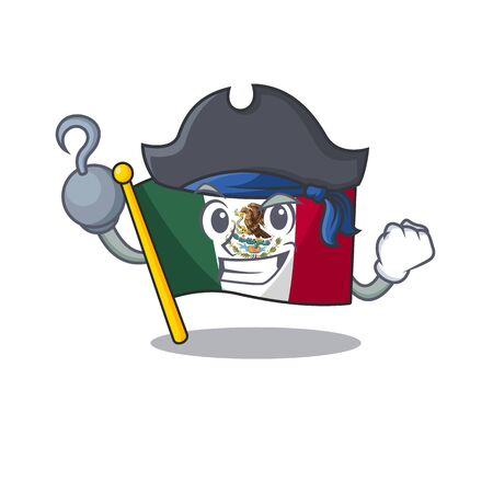 Pirate flag mexico in the cartoon shape vector illustration Ilustrace