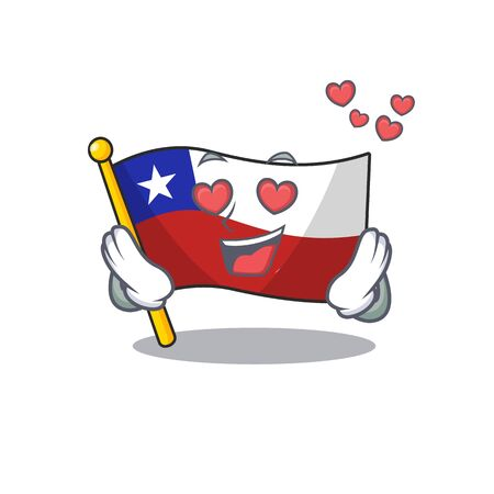 In love flag chile mascot in character