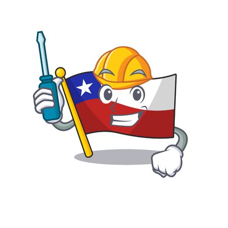 Automotive flag chile with in the character